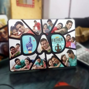 Personalized Dad multi layer MDF frame backview