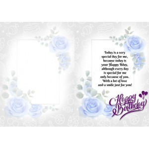 Personalized Birthday Greeting Card 021 backview