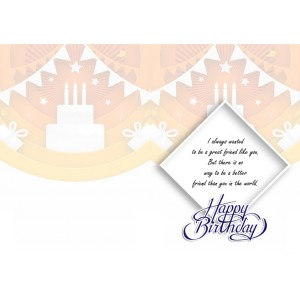 Personalized Birthday Greeting Card 022 backview