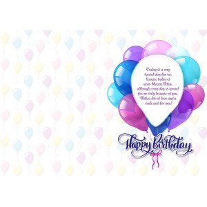 Personalized Birthday Greeting Card 023 backview