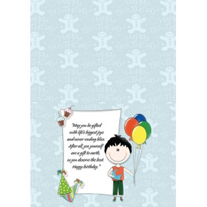 Personalized Birthday Greeting Card 015 backview