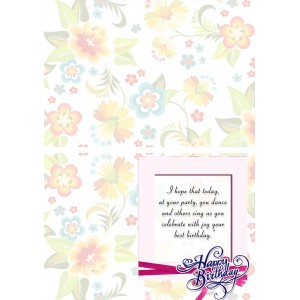 Personalized Birthday Greeting Card 016 backview