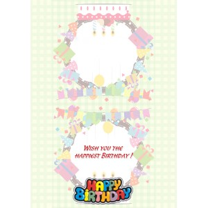 Personalized Birthday Greeting Card 018 backview