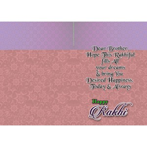 Personalized Raksha bandhan Greeting Card 004 backview