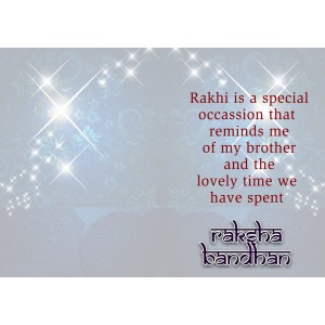 Personalized Raksha bandhan Greeting Card 006 backview