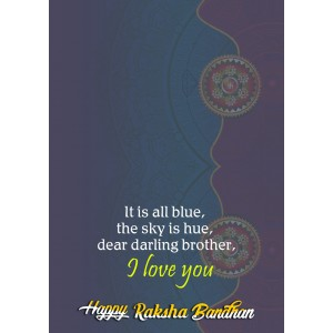 Personalized Raksha bandhan Greeting Card 007 backview