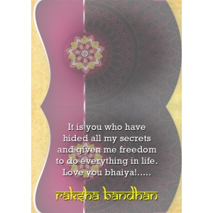 Personalized Raksha bandhan Greeting Card 009 backview