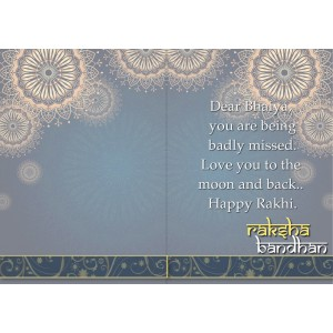 Personalized Raksha bandhan Greeting Card 010 backview
