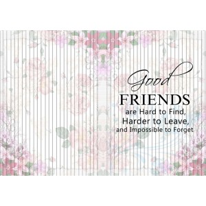 Personalized Friendship Day Greeting Card 003 backview