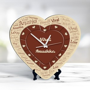 chocolate heart design Personalized Clock
