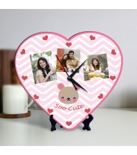 Soo Cute Personalized Heart Shaped Clock
