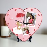 You Complete Me Personalized Heart Shaped Clock