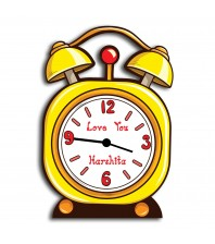 Personalized MDF Clock with Alarm Clock Design