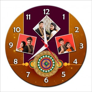 Personalized Raksha Bandhan Round Wall Clock 2