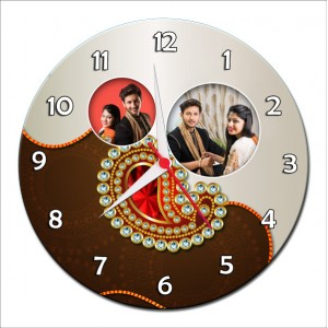 Personalized Raksha Bandhan Round Wall Clock 4