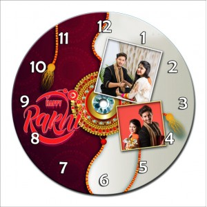 Personalized Raksha Bandhan Round Wall Clock 5