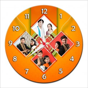 Personalized Raksha Bandhan Round Wall Clock 6