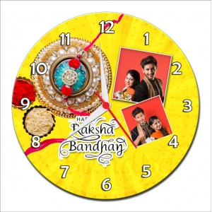 Personalized Raksha Bandhan Round Wall Clock 8