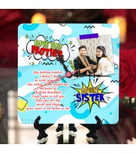 Personalized Raksha bandhan Table Top Clock design 04