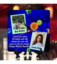 Personalized Raksha bandhan Table Top Clock design 06