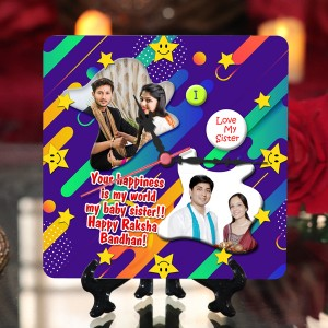 Personalized Raksha bandhan Table Top Clock design 08