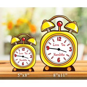 Personalized MDF Clock with Alarm Clock Design backview