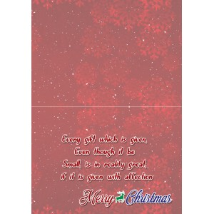 Personalized Christmas Greeting Card 008 backview