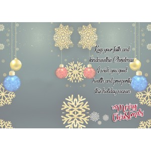 Personalized Christmas Greeting Card 009 backview