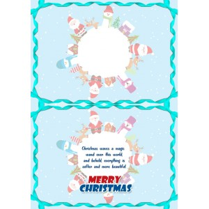 Personalized Christmas Greeting Card 010 backview