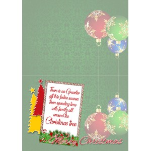 Personalized Christmas Greeting Card 011 backview