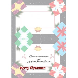 Personalized Christmas Greeting Card 012 backview