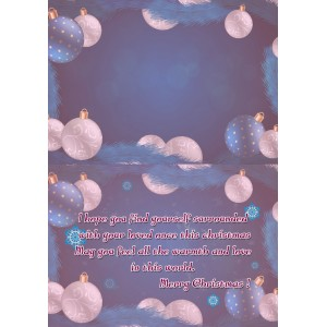 Personalized Christmas Greeting Card 013 backview