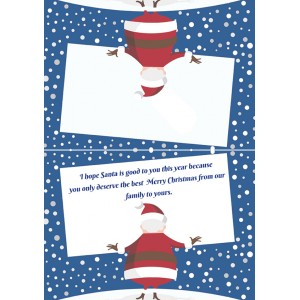 Personalized Christmas Greeting Card 014 backview