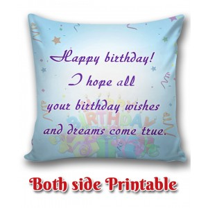 Personalized Birthday Cushion one side photo back side message gift 01 backview