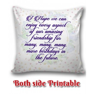 Personalized Birthday Cushion one side photo back side message gift 02 backview