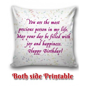 Personalized Birthday Cushion one side photo back side message gift 04 backview