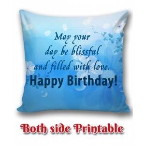 Personalized Birthday Cushion one side photo back side message gift 05 backview