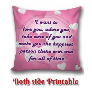 Personalized Anniversary Cushion one side photo back side message gift 05 backview