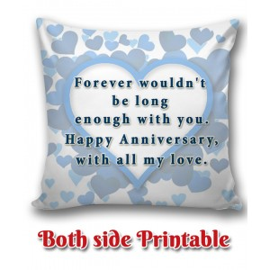 Personalized Anniversary Cushion one side photo back side message gift 06 backview