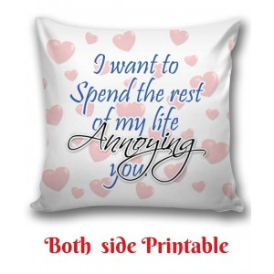 Personalized Cushion one side photo back side message Love gift 01 backview