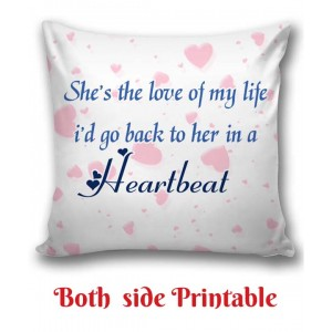 Personalized Cushion one side photo back side message Love gift 02 backview