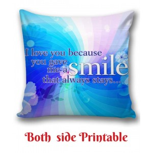 Personalized Cushion one side photo back side message Love gift 03 backview