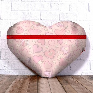 Personalized Heart Shape Cushion with Love Forever Design  backview
