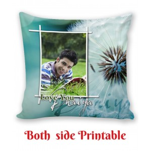 Personalized Cushion both side photo print brother sister gift 04 backview