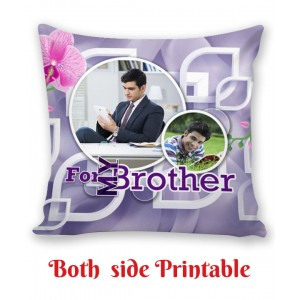 Personalized Cushion both side photo print brother sister gift 07 backview
