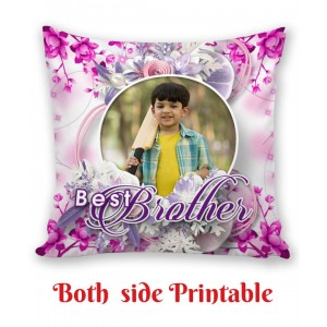 Personalized Cushion both side photo print brother sister gift 08 backview
