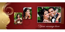 Black Magic Mug inside RED color Personalized with Photo Design 115