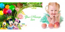 Personalized Water bottle for Kids - Green Design 165