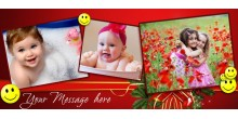 Red dual tone personalized photo mug Design 167