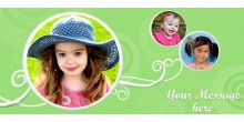Personalized Water bottle for Kids - Green Design 172